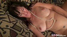 USAwives Horny Mature Lady Self Toy Masturbation - duration 8:09