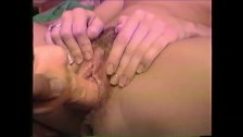 90s Amateur Wife's Hairy Pussy fucked with Vibrating Dildo
