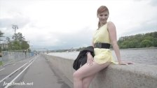 Jeny Smith public flasher shares great upskirt views on the streets - duration 8:02
