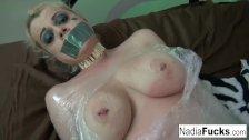 Nadia White gets groped