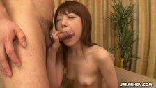 Skinny small boob brunette has a sixty nine and a cock suck - duration 7:08