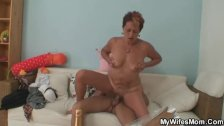 Cock-hungry mother in law gets busted riding