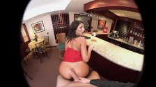 VRBangers AUGUST AMES GIVE A WORLD CLASS BLOWJOB AT THE BAR