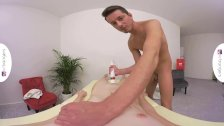VRBangers-  FUCKING ON THE MASSAGE TABLE AND BLOWJOB