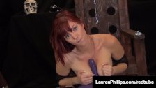 Lauren Phillips Bounces Her Juicy Pussy On A Magic Sex Ball!