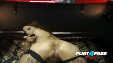 Flirt4Free Fetish Babe Hot Lexy is into Bondage and Pleasuring Her Ass BDSM