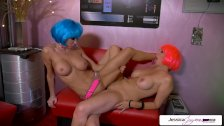 Jessica Jaymes and Julia Ann lesbian duo going off
