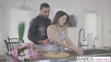 Babes - Valentina Nappi sucks some BBC in the kitchen