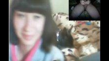 Reacciones de nenas al ver mi polla en la web cam. 23