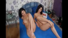 Threesome with 2 super sexy schoolgirls from Greece
