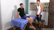 KC enjoys a relaxing foot massage combined with foot worship - duration 8:12