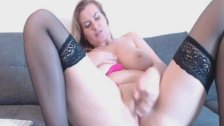 Babe with Natural Big Tits And Sexy Curves Fucks Herself