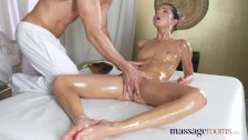 Massage Rooms Tiny Gina Gerson takes big cock in her tight little hole