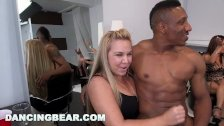 DANCING BEAR - CFNM Hair Salon Dick Party For Them Bitches! - duration 12:00