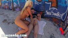 BANGBROS Big Booty Pornstar Blondie Fesser Takes a Public Pounding