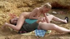 Blonde Rides A Cock In The Great Outdoors