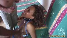 african babe in wild threesome fuck