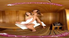 VR PORN-Jaye Steaming the Sauna  with exotic asian Ayumi Anime's hot body