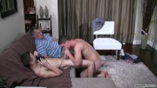 Daddy and Son Trick Straight Guy Into Sucking Cock