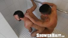 ShowerBait Straight guy shower fucked by roommates bf