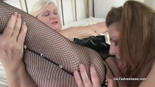 Younger bbw and granny play with black cock