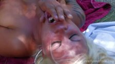 Tattooed Busty Blonde Loves To Fuck Outdoors
