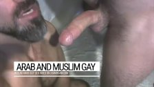 Arab gay macho stud finds & pleases his master. Djamel swallows it all