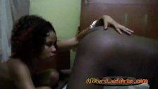 Fabulous black sluts lick one another