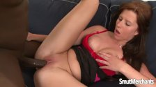 Hot Redhead takes black dick - duration