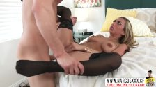 Step Daughter Kat Dior In Stockings Sucking Monster Cock