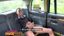 Female Fake Taxi Big black cock stretches sexy slim drivers tight holes - duration 8:00