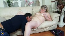 British chubby mature lady fucking and sucking