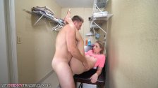 Step Sister Sierra Nicole Gets Cream pie on Top of Washer by Older Brother!