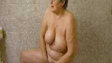 OmaHoteL Horny Grandma Chubby Solo Play Footage