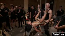 Black chick gets tied up and dominated