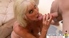 Lush Mommy Leah L Amour Gives Handjob Well Touching Friend
