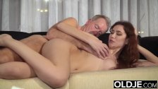 Old Young Porn Natural Teen Takes Grandpa cock In her pussy - duration 10:26