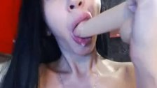 Hot Babe With Huge Hooters Fucking Her Fish Lips