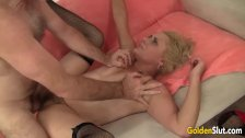 Mature woman sucking and fucking