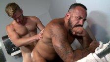 Bear Daddy Roughs Up Brian Bonds In Gym Bathroom