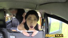 Fake Taxi knee high socks beauty with no knickers takes it all