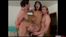 Latina slut in brutal threesome - duration 11:34