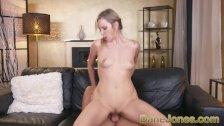 Dane Jones Big tits blonde Angel Piaff sloppy blowjob cowgirl and creampie