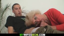 Angry mother-in-law fucks him