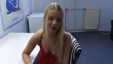 Blonde Dutchie Cute Handjob