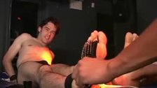 Cute twink Andrew gets tickled by sexy dude Cristopher