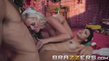 Brazzers - Two naughty elves love big dick