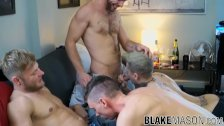 Cock adoring studs going crazy during a wild foursome