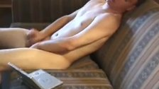 Young Jay Strips and Strokes His Cock
