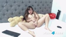 Michele Madison Flirt4Free - Chubby Latina Babe Fingers Her Sexy Pussy